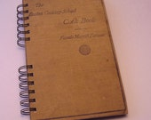"""1920's FANNIE FARMER COOKBOOK Handmade Journal Vintage Upcycled Book """"The Boston Cooking School Cook Book"""""""