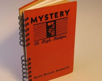 1937 MYSTERY HIGH HEDGES Handmade Journal Vintage Upcycled Book