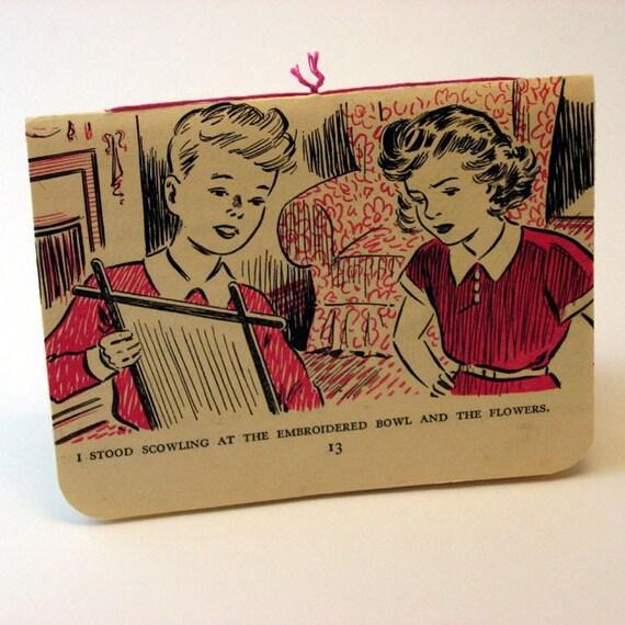 Handmade Notebook - Vintage Boy & Girl Embroidery