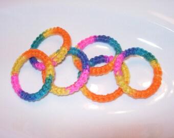 Crochet Ring Cat Toys- BRIGHT Set of 6