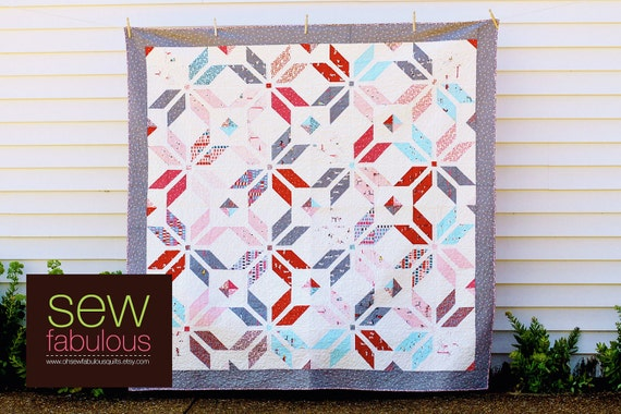 Summer Breeze Patchwork Quilt featuring Sherbet Pips by Aneela Hoey