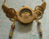 Steampunk Clinometer Necklace Brass Youre on the Level