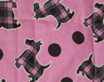 LAST ONE! Pink Scotties! Quilted Pet Mat