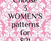 pattern SALE - pattern coupon - womens patterns - womens sewing pattern - pdf pattern - sew pattern