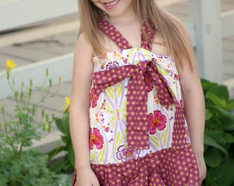 Halter Dress pattern for Girls sewing pattern, Girls sewing pattern, easy dress, PDF sewing pattern