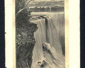 1877 Print Niagara Falls NY, The Earth and its Peoples