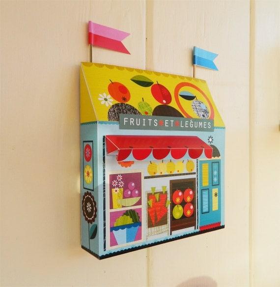 fruit and veg store craft kit