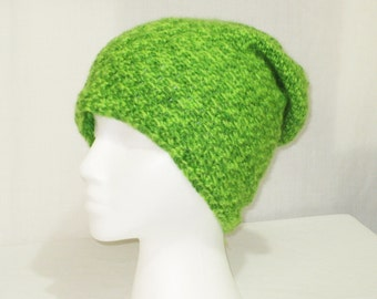 slouch beanie crochet multi green