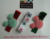 Boutique Hair Clips - Mickey and Minnie Christmas Collection I - No Slip