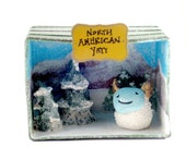 Cute Yeti Diorama - North American Yeti Habitat Mixed Media Art Piece