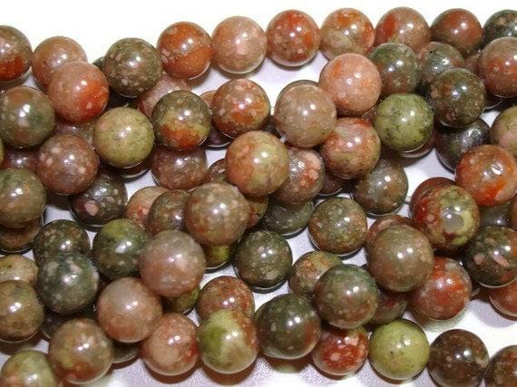 Autumn Jasper - 8mm Round Beads - Full Strand - 49 beads