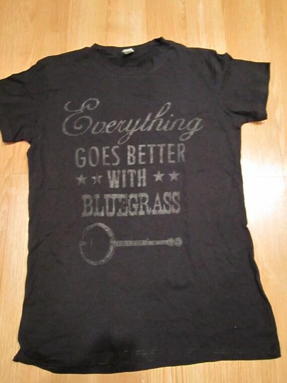 Better with bluegrass t shirt - Men's Large Black
