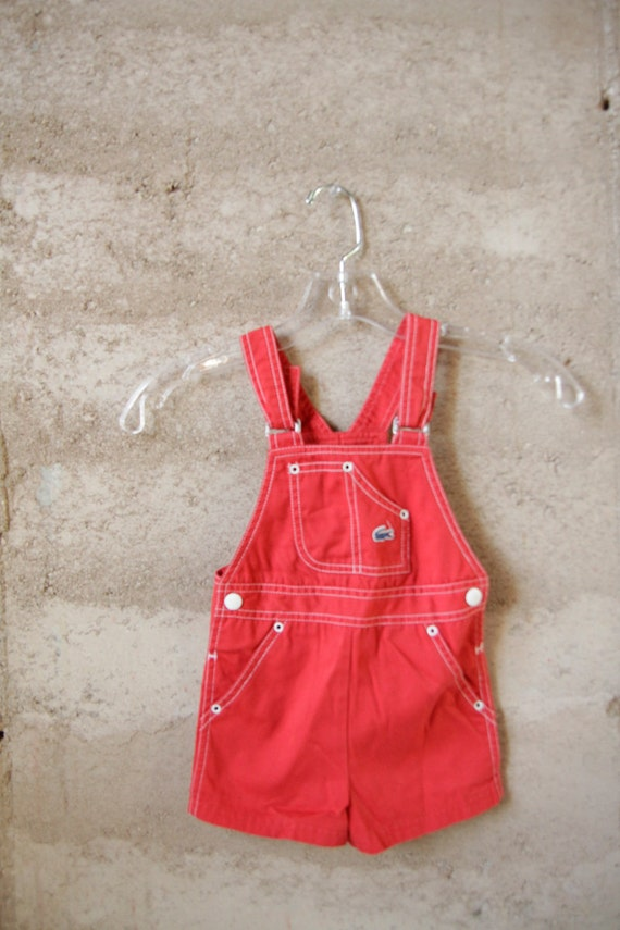 IZOD kids RED JUMPER overalls size 3T children brand