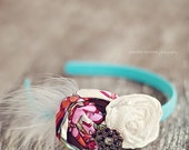Adorable Headband with Feather & Charm