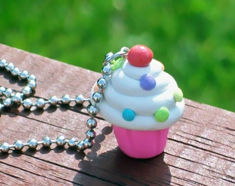 Cute Cupcake Charm Necklace