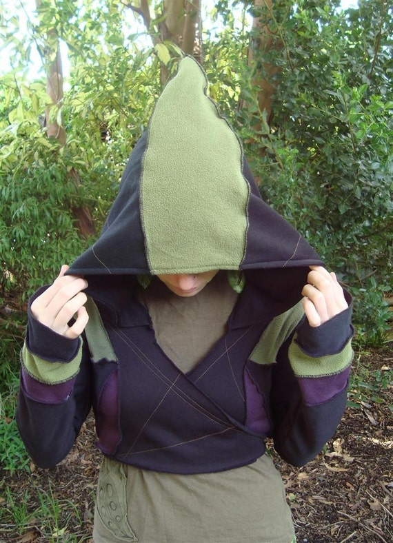 15% OFF- ON SALE-Wrap Around Hoodie-Fits Many Sizes