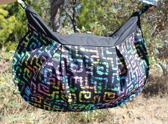 RESERVED for EMMA- Rainbow Batik Maze Handbag