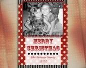 Christmas Photo Card, Holiday Photo Card, Christmas Holiday Card, Photo Holiday Card, Vintage Christmas-Digital File You Print