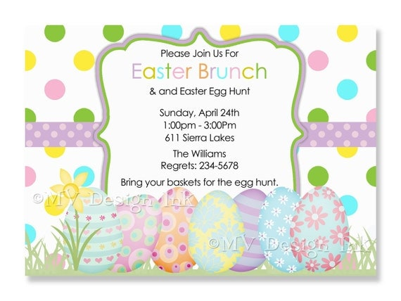 personalized easter egg hunt invitation egg hunt invitation, party invitations