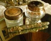 Vintage Mercantile Fountain Pen Pat. Apr 10, 1910, Marbleized MOP Finish- 14 K Gold Plated Nib Supplies Antiques Treasury Item x 4