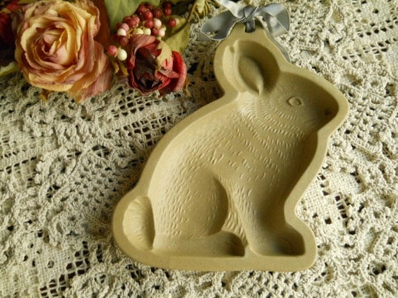 Stoneware Wilton Bunny Cookie Press/ Mold- Supplies- Hanging Kitchen Stoneware Decoration Home Decor Housewares Treasury Item