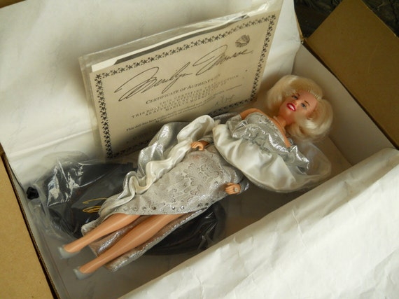 Vintage Marilyn Monroe Doll by DSI-  With Certificate Of Authenticity- Collectible Doll Antiques- In Original Box With Papers