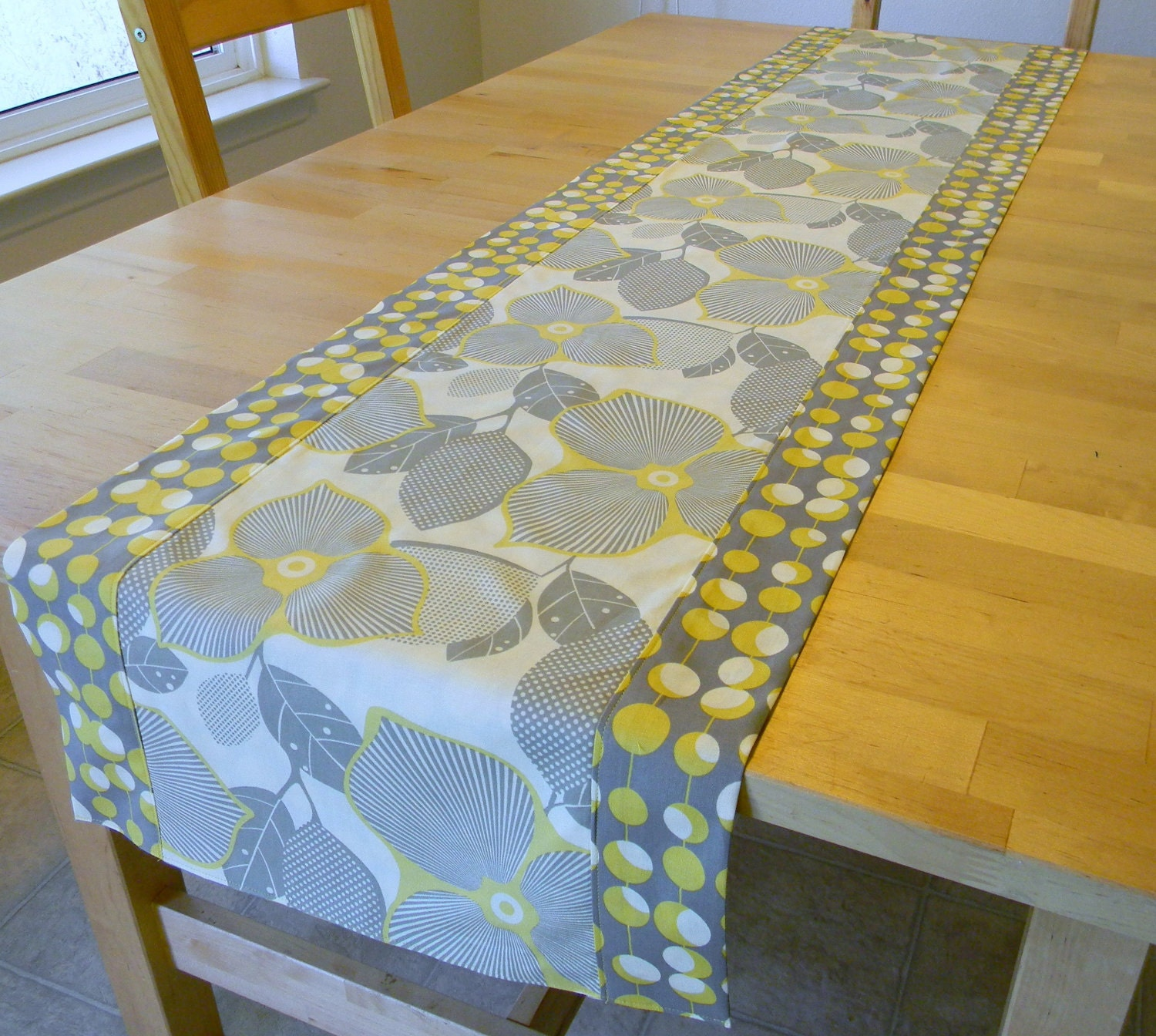 Midwest Modern Table Runner By Hiddengrins On Etsy