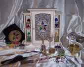 Elemental Elegance Altar Box / Cupboard Complete Altar Set - No.2902, S&H included