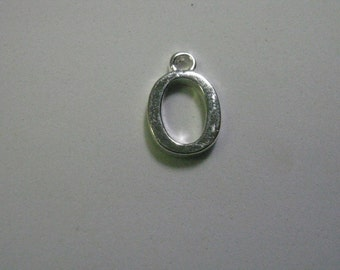 1 Number 0 Silver Plated Charm