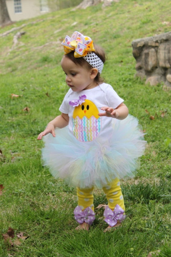 Baby Girl Easter Tutu Outfit Pretty Little