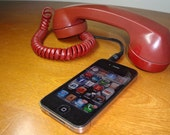 Re-Purposed Vintage Rotary Phone Head Set For Your Smart Phone