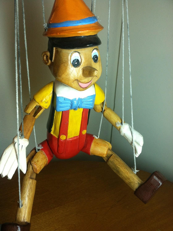 Vintage wooden walt disney s pinocchio by vintagegorillajunk