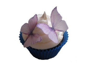 Birthday Cake Toppers, Edible Butterflies in Lavender,  Cake Decorations, Edible Images for Cakes