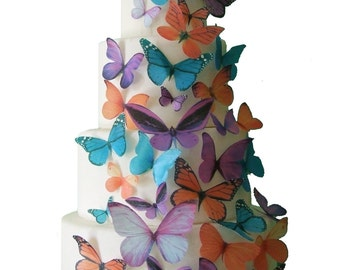 Edible Butterfly Cake Toppers - MADDISON - Cake Decorations - Butterfly Cake Toppers
