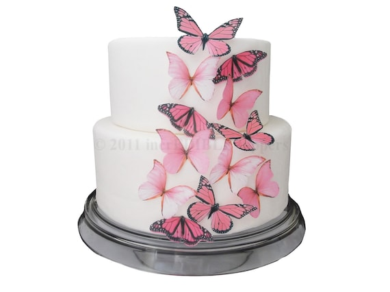Etsy Wedding Cake Decorations : CAKE DECORATIONS Edible Butterflies 12 Large by ...