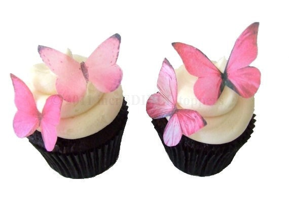 Cake Decorations Edible Photos : Wedding Cake Toppers Edible Butterflies in by ...