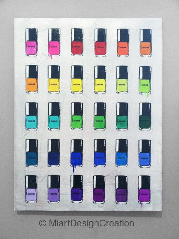 Color Nail Polish Painting