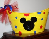 Personalized Plastic Pail - Oval - Perfect For Easter or Custom Gift
