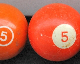 Retro Number Five Pool Ball
