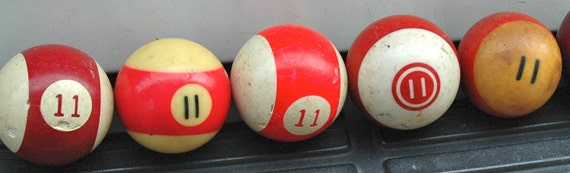 Number 11 Pool Ball