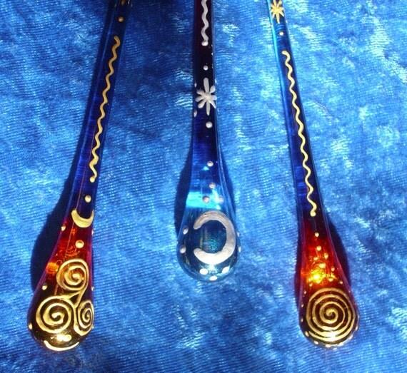 3 Celtic Rainbow Drops - Reserved for Karyn
