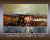 Reserved for Linda Vontor --original modern oil 41x27 cm arp.16x11 inches from series ,,WATER,, by Eugene Petrov