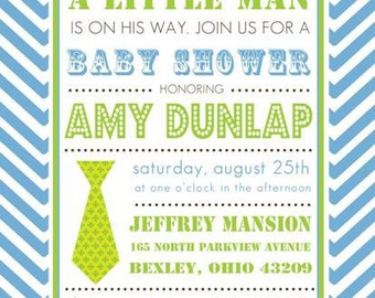 Little Man Invitations