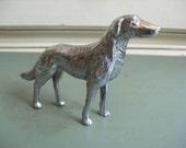 SALE PRICED Vintage Cast Metal English Setter Dog Made in Japan