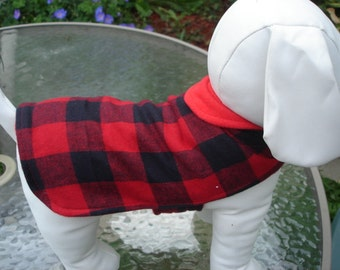 SALE Black and Red Plaid Fleece Coat Sizes Xs, S, M (Custom sizes available)