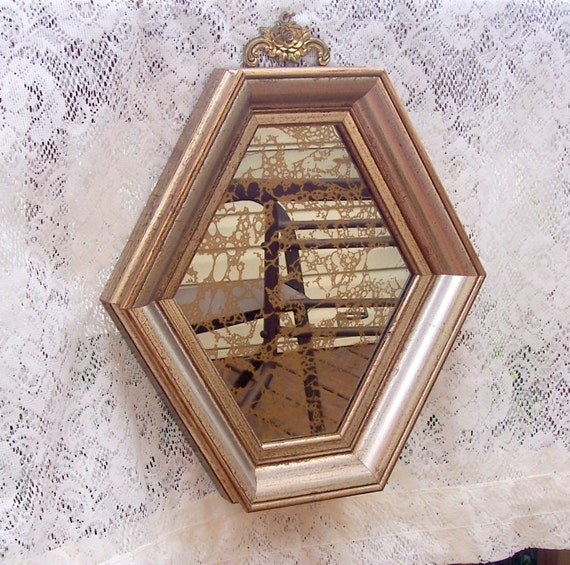 Vintage Gold Mirror Italian Collectible Gold on Mirror Great Vintage Condition  6 Sided REDUCED 20 %