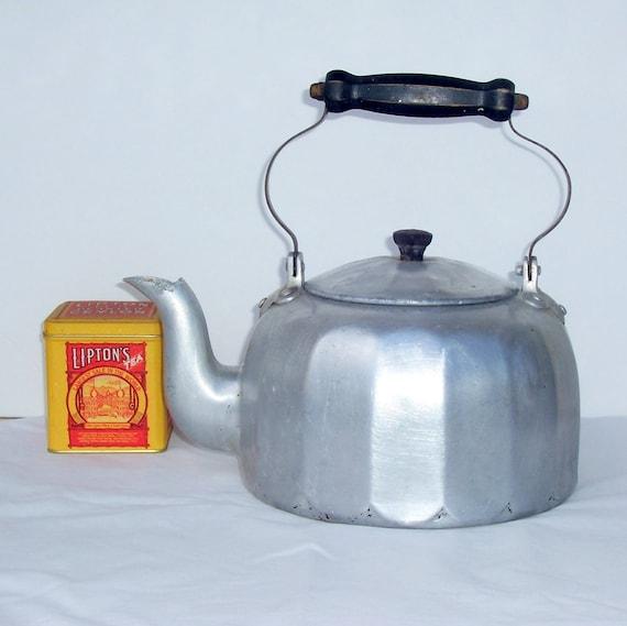 Mirro Aluminum Tea Kettle Vintage Tea Pot Primitive Country
