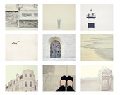 The White CollectionVintage whimsical, White Blue Bohek Simplicity,  5x5 - 7x5 inch - Fine Art Photography