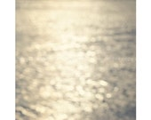 Daydreaming Ocean, Bokeh Beach, Seaside Nautical Vintage Whimsical,  5x5 inch - Fine Art Photography