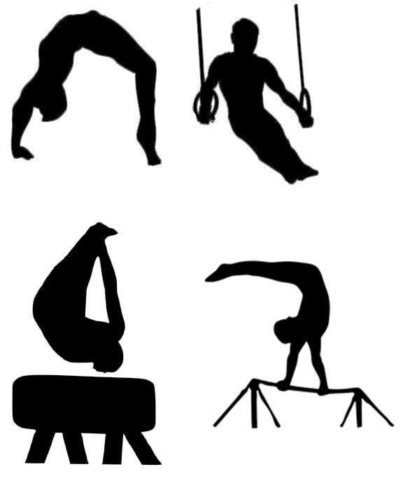 Male Gymnast Gymnastics Silhouette Die Cut Files Collection